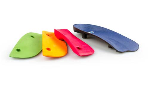 Modular Orthotic by Interpod. Includes three interchangeable arch inserts: low, moderate and high