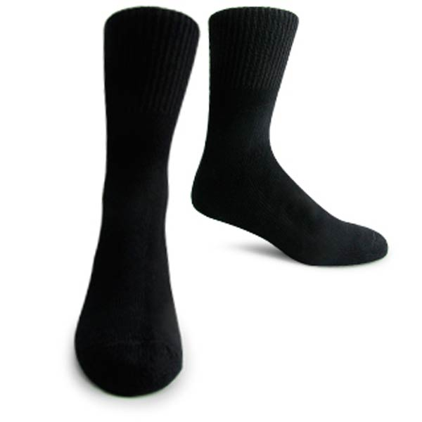 Support Socks: Interpod's long, black, medical grade Diabetic sock.