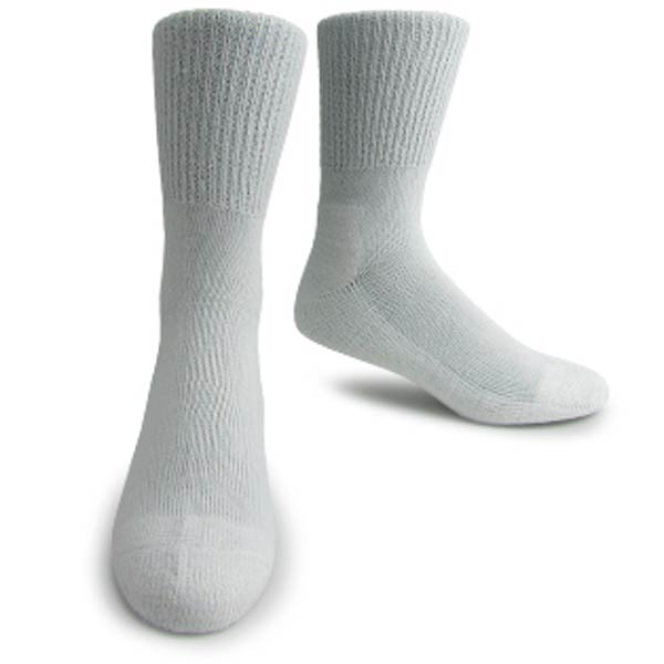 Support Socks: Interpod's long, white, medical grade Diabetic sock.