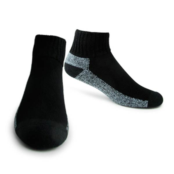 Support Socks: Interpod's short, black, medical grade Diabetic sock.
